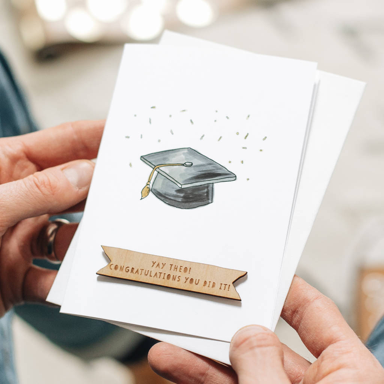 Personalised Graduation Hat Card