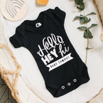 Personalised New Baby Announcement Baby Grow