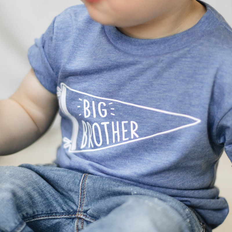Big Brother Birth Announcement T-Shirt-clouds-and-currents