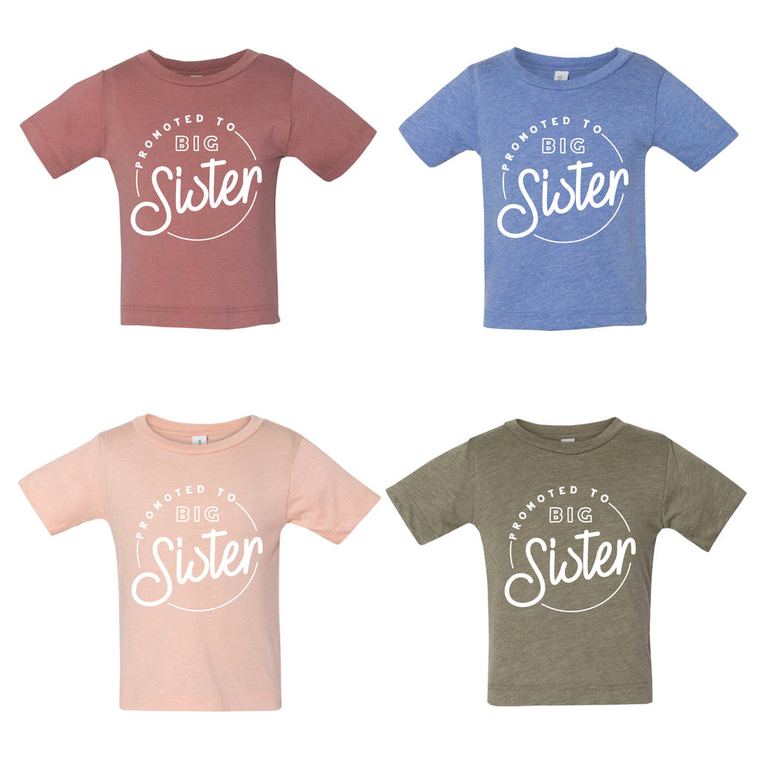 Birth Announcement Big Sister Promotion T-Shirt-clouds-and-currents