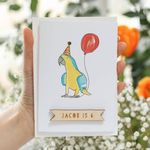 Personalised Happy Birthday Parrot CardClouds and Currents