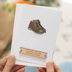 Personalised Walking Boots Retirement Card