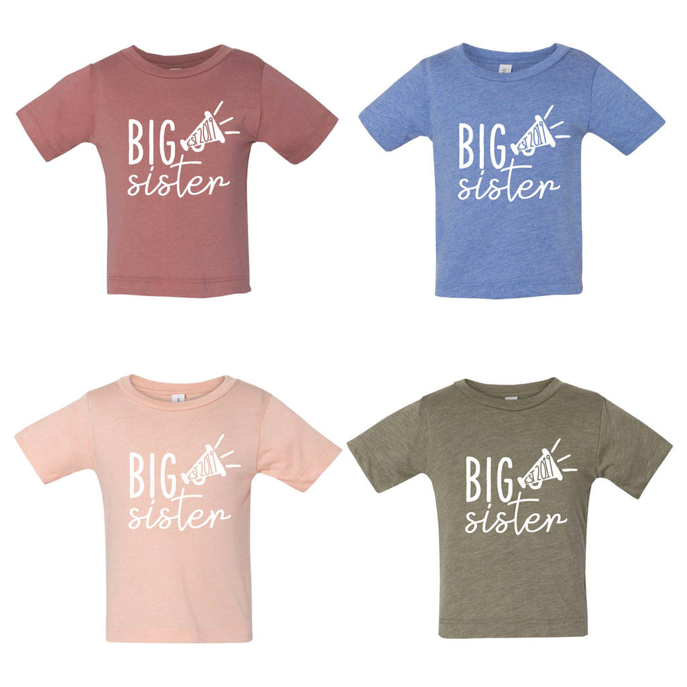 Big Sister Est. Kid's Trumpet T ShirtClouds and Currents