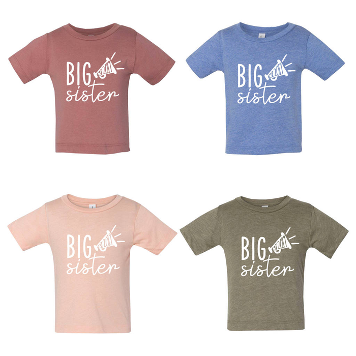 Birth Announcement Big Sister T-Shirt-clouds-and-currents