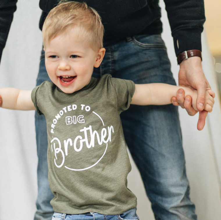 BIRTH ANNOUNCEMENT BIG BROTHER PROMOTION T SHIRT