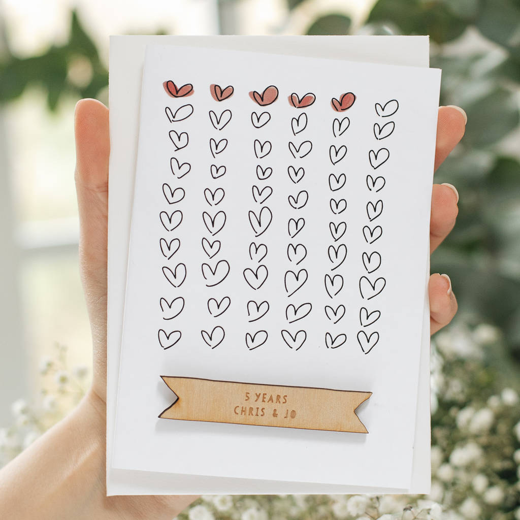 PERSONALISED ANNIVERSARY HEART CARD-clouds-and-currents