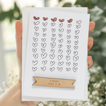 Personalised Anniversary Hearts Card