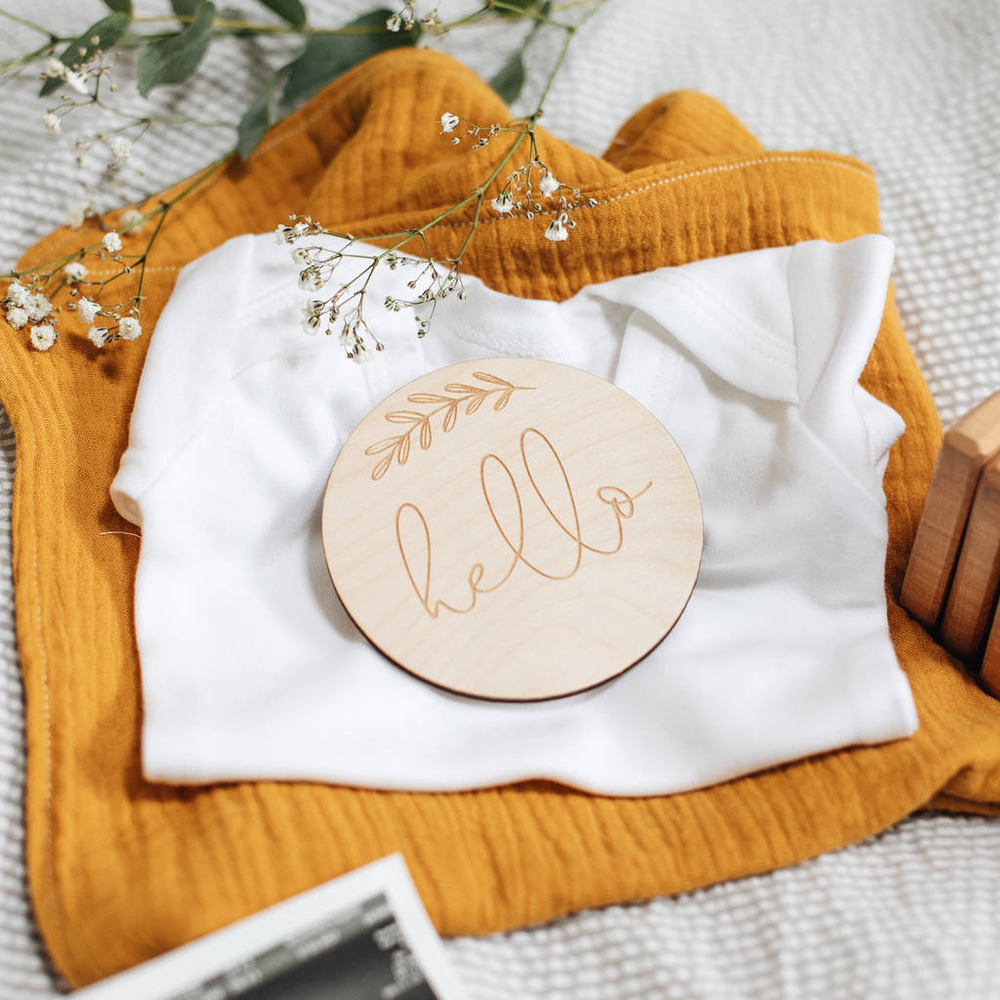 Hello New Baby Announcement Keepsake