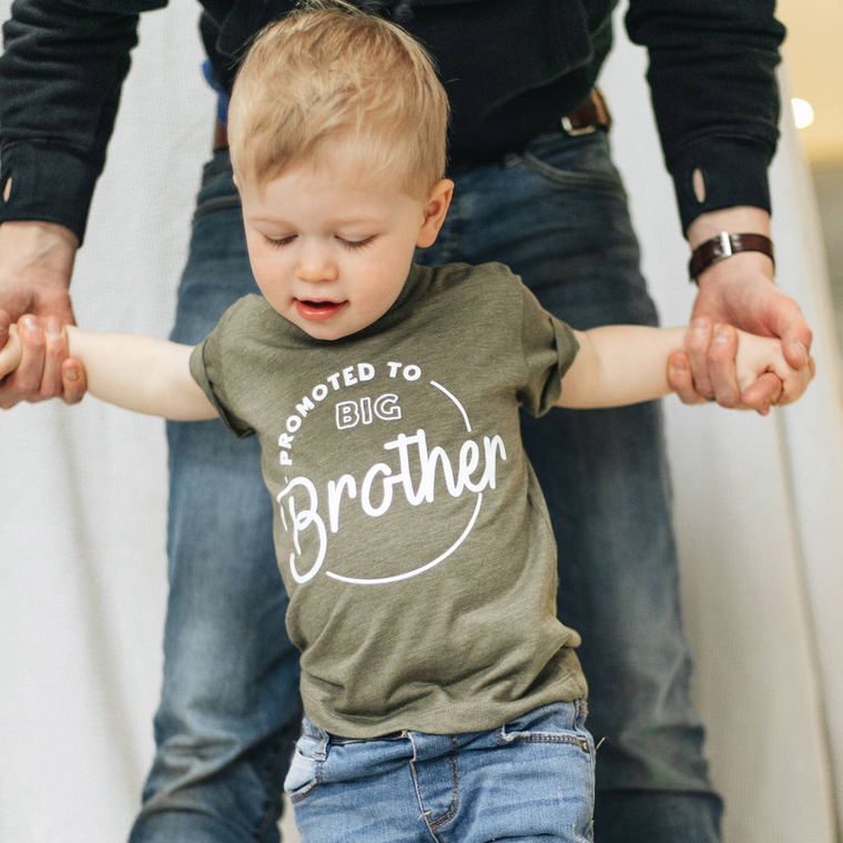 Birth Announcement Big Brother Promotion T-Shirt-clouds-and-currents