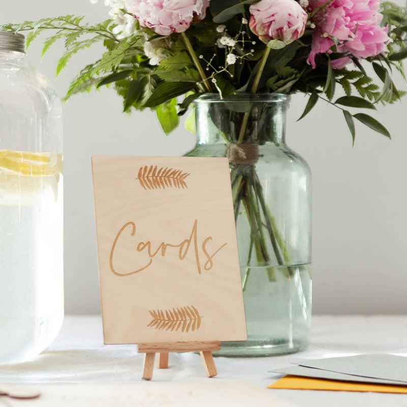 BOTANICAL WEDDING CARD TABLE SIGN-clouds-and-currents