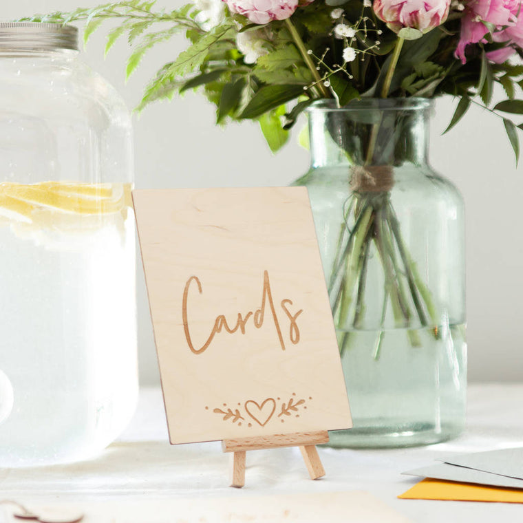 CARD TABLE SIGN