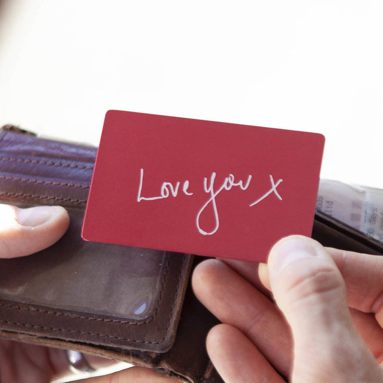 Handwriting Wallet Card