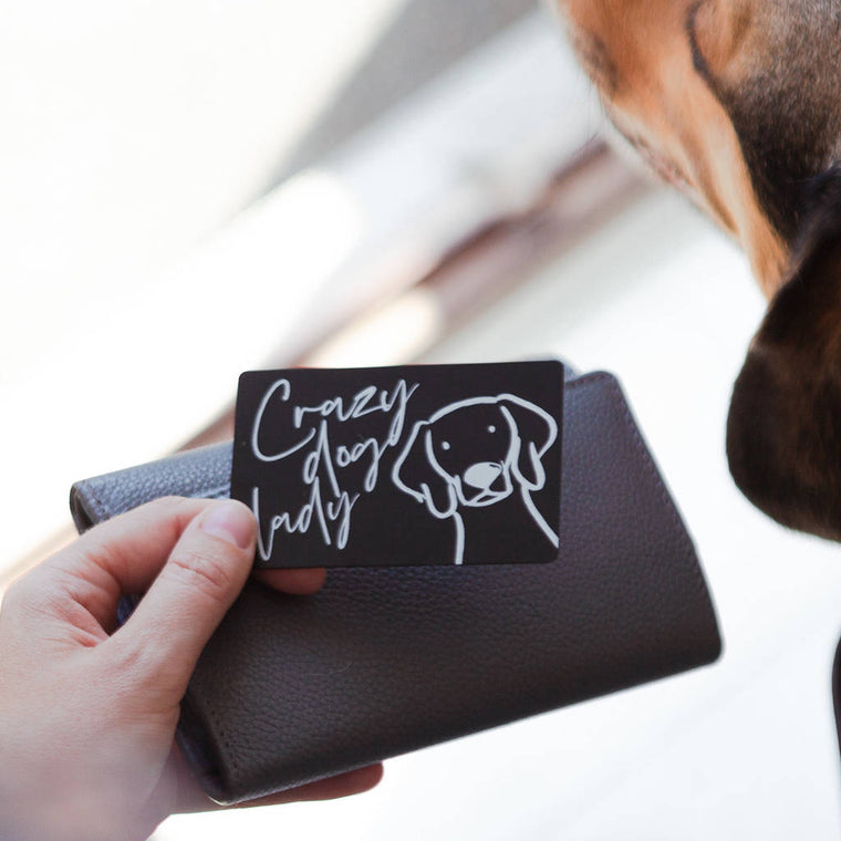 'CRAZY DOG LADY' PET KEEPSAKE WALLET CARD