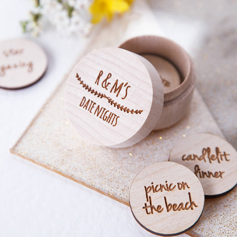 Personalised Date Night Tokens Box