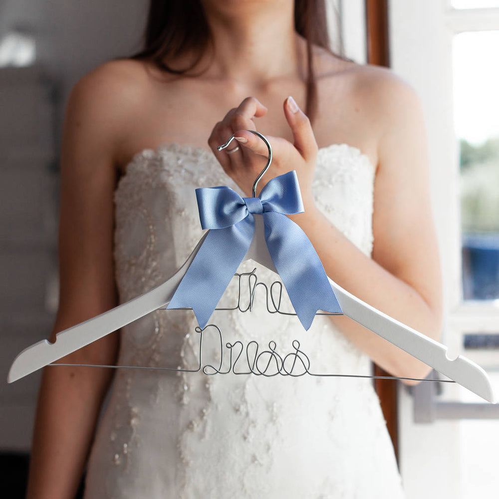 Personalised Wedding Dress Dual Line Hanger