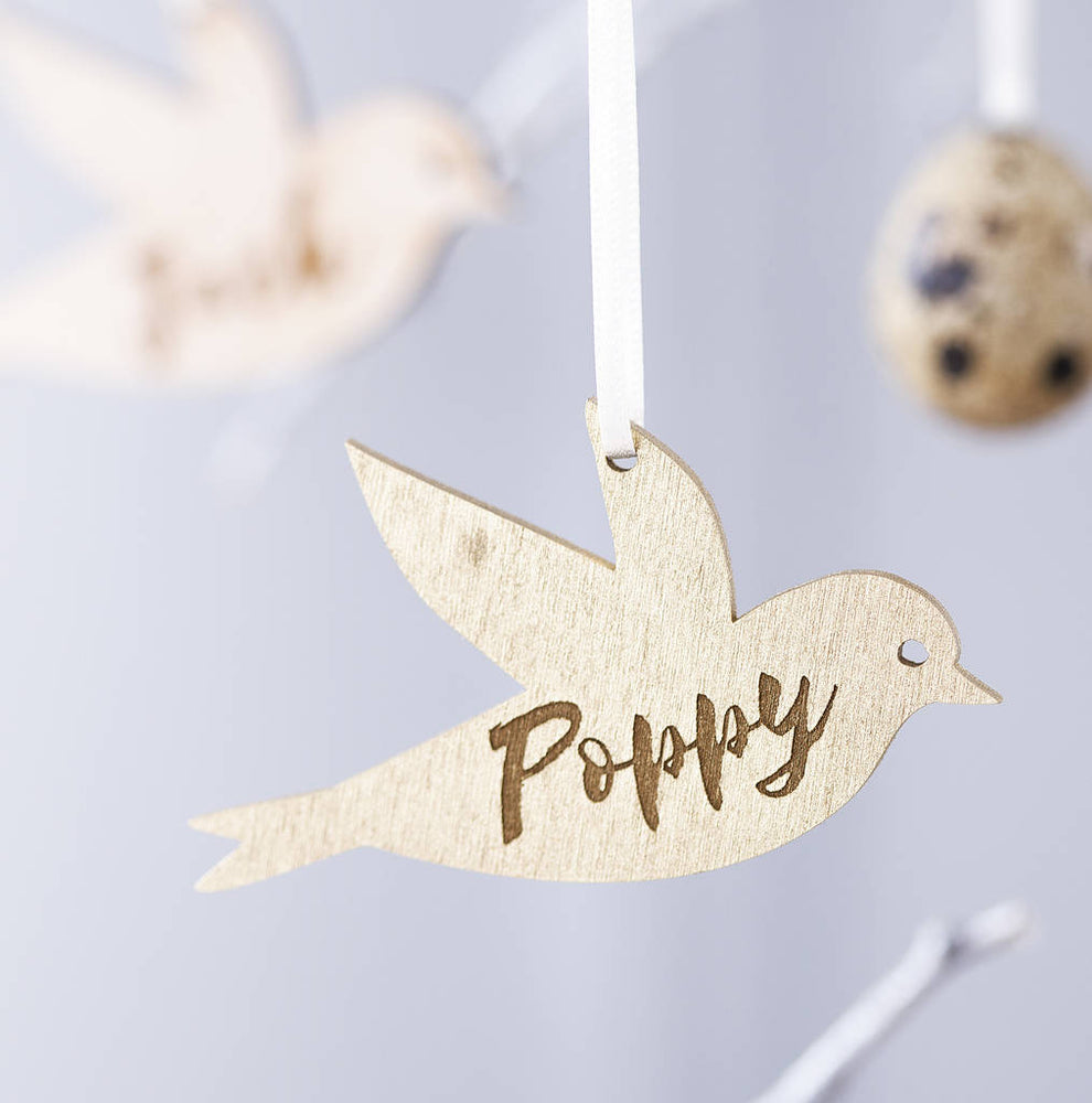Personalised Bird Easter DecorationClouds and Currents