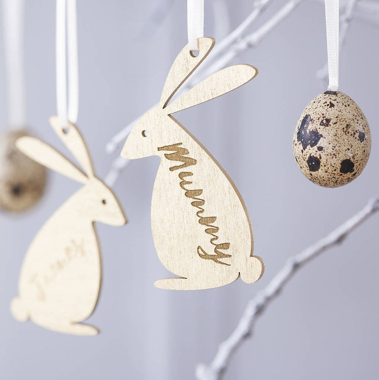 Personalised Easter Bunny Family Decoration