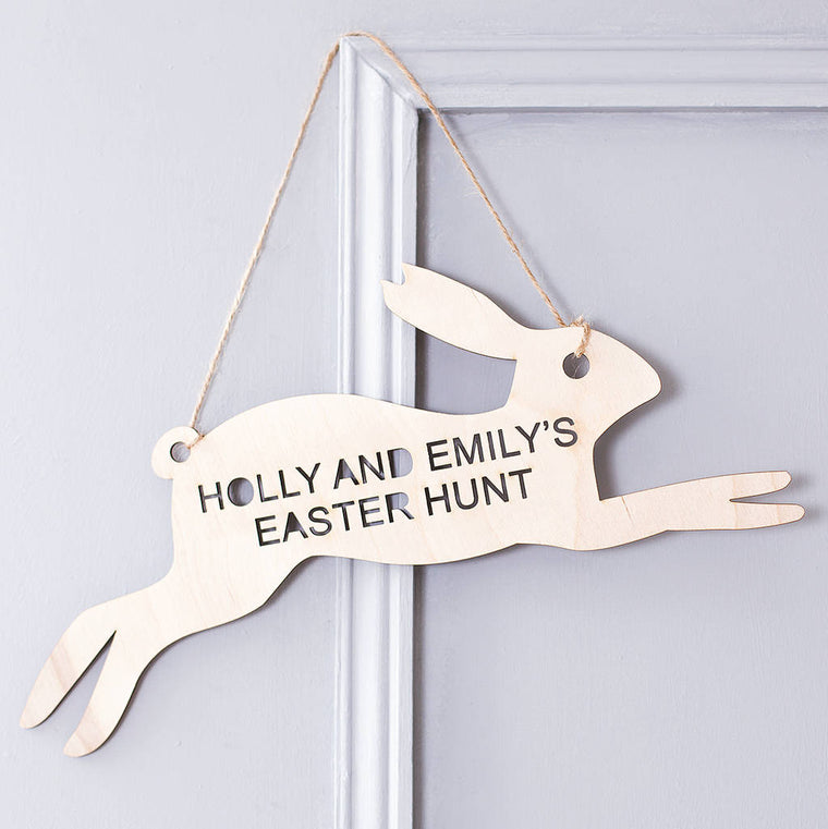 Personalised Easter Egg Hunt Sign