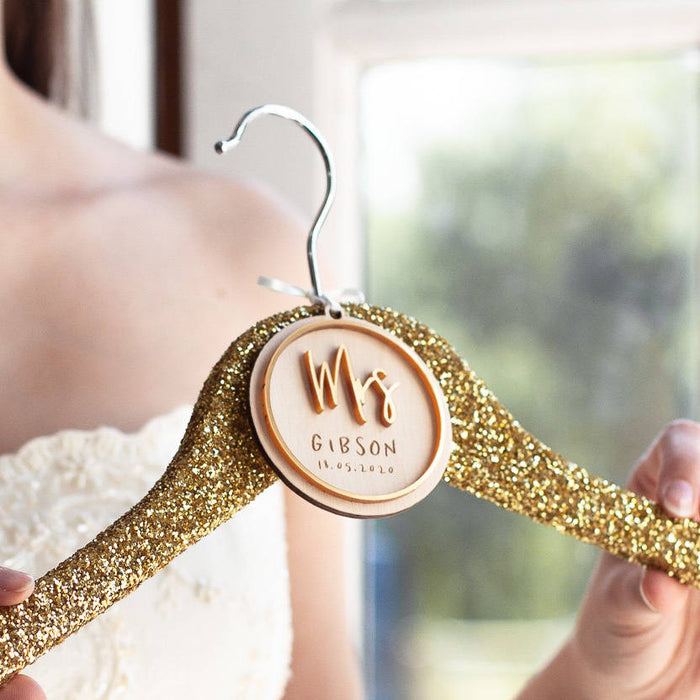 MRS BRIDAL WEDDING HANGER CHARM-clouds-and-currents