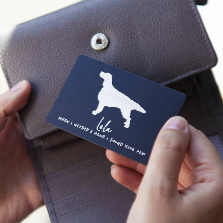 Pet Keepsake Wallet Card