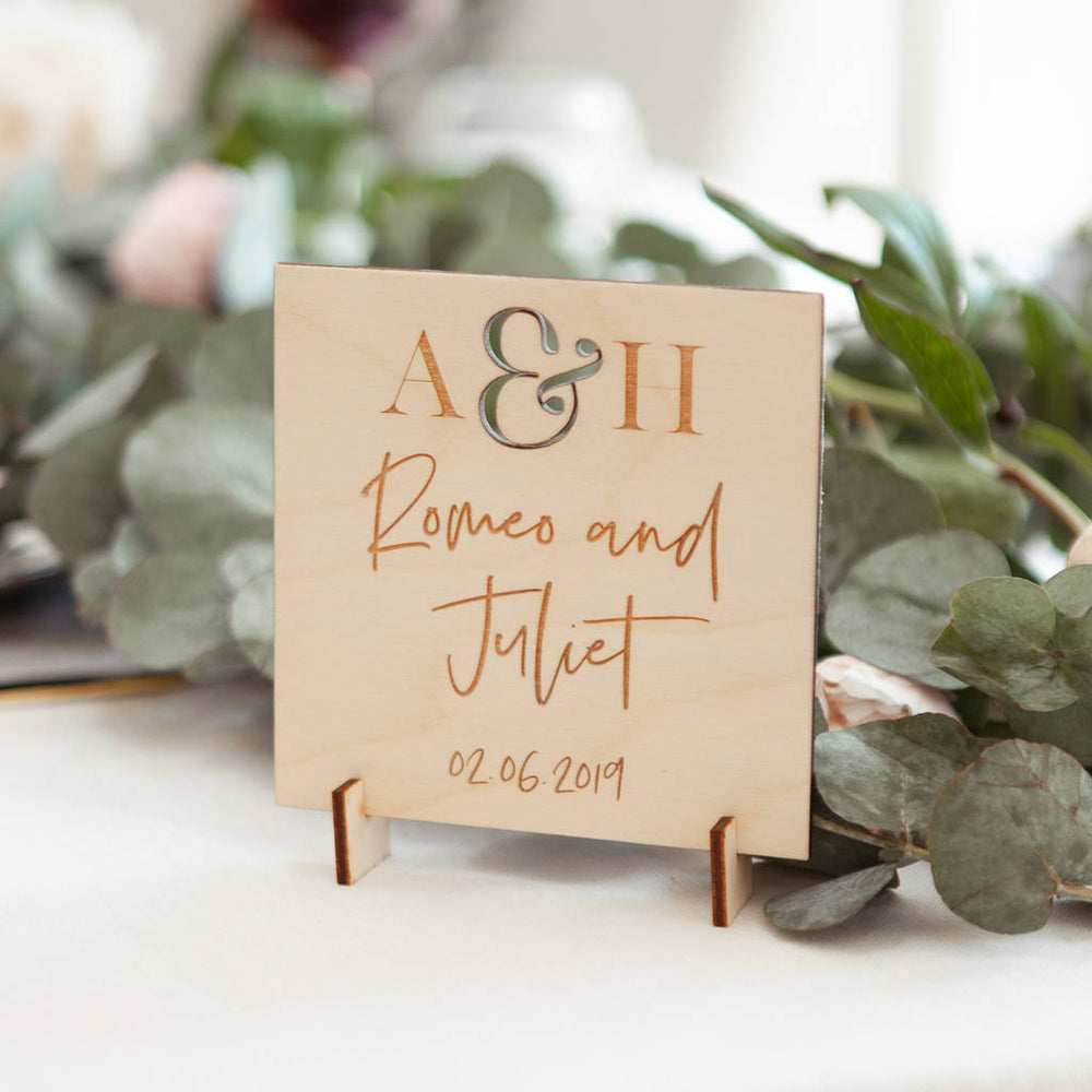 Wedding Date Table Names Sign