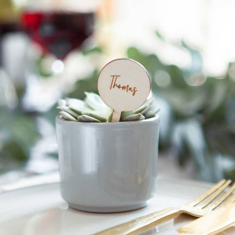 WEDDING NAME PLACE SETTING