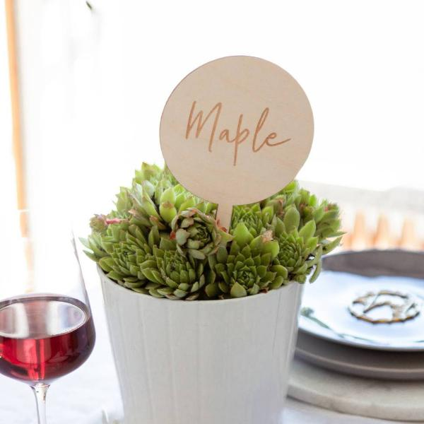 Simple Wedding Table Signs