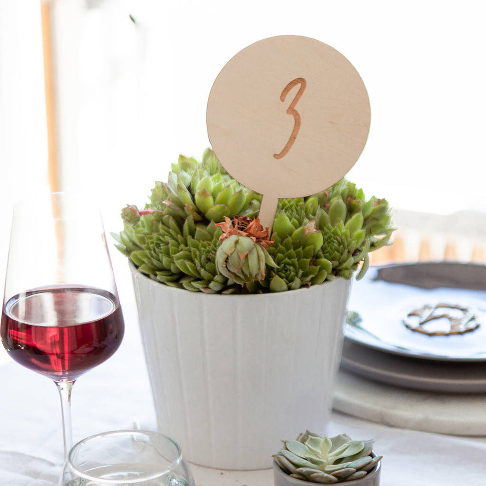 Simple Wedding Table Numbers