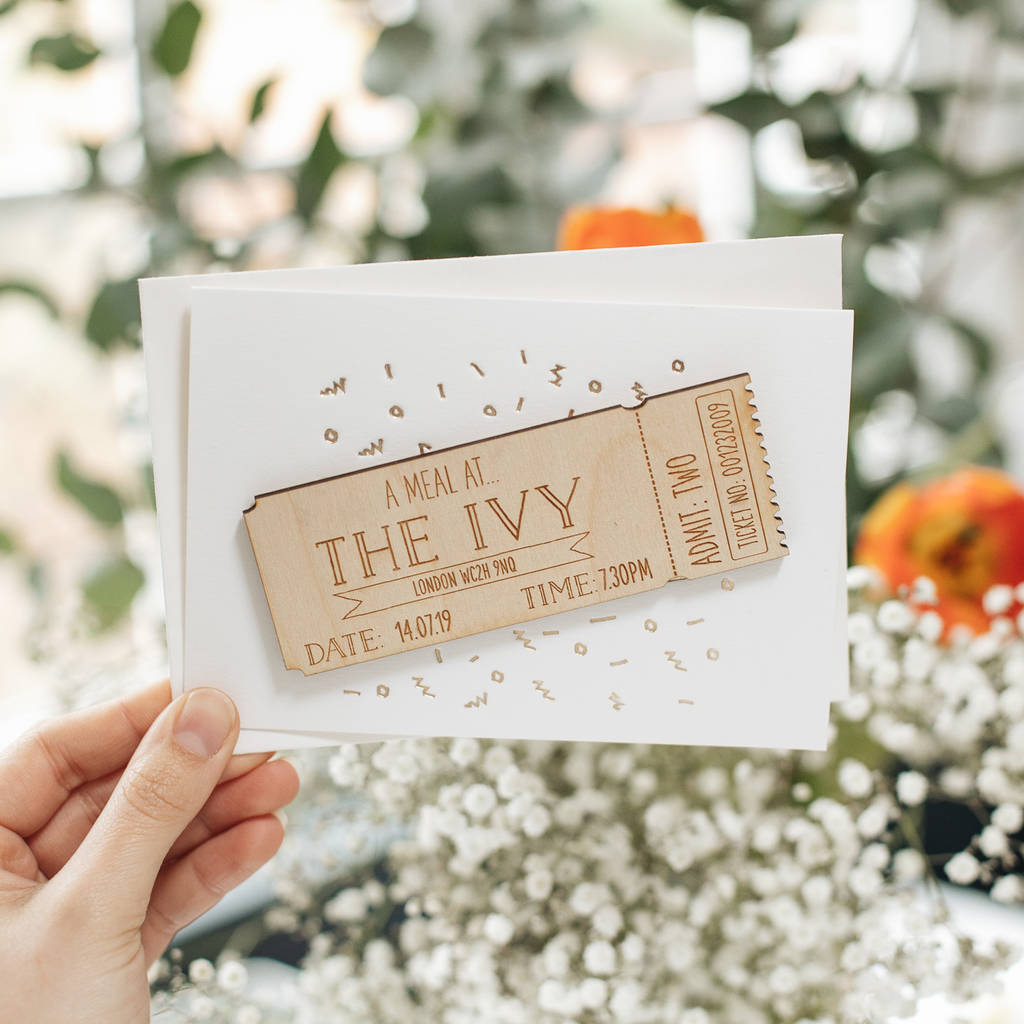 Personalised Wooden Ticket Gift Card-clouds-and-currents