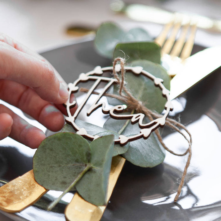 WREATH WEDDING PLACE SETTING