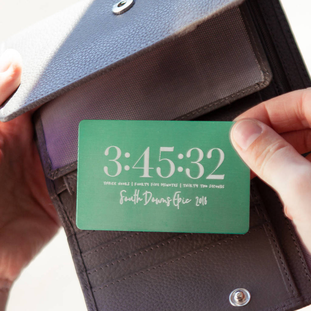Marathon Keepsake Wallet Card