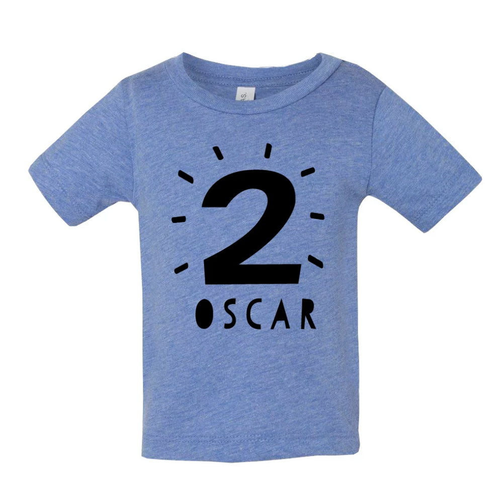 CLEARANCE Kid's Birthday T Shirt 'Oscar'Clouds and Currents