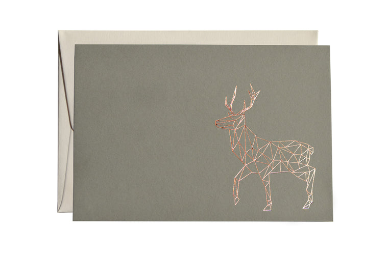 GEOMETRIC STAG CARD