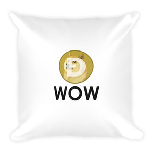 Dogecoin WOW Square Pillow