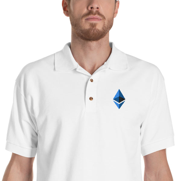 Ethereum Embroidered Polo Shirt
