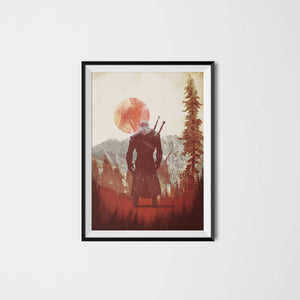 Witcher 3, Geralt Artwork Video game poster