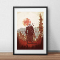 Witcher 3, Geralt Artwork Video game poster - iamloudness