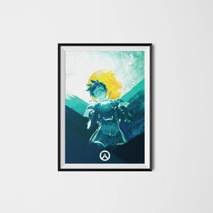 Video game Overwatch poster - Tracer, print video game poster