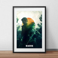 Video game Last of us poster Joel & Ellie TLOU  game print gift for him, video game, game room wall, video game print, gifts for gamer