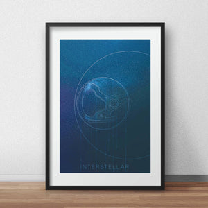 Interstellar movie poster Christopher Nolan moive poster print wall art