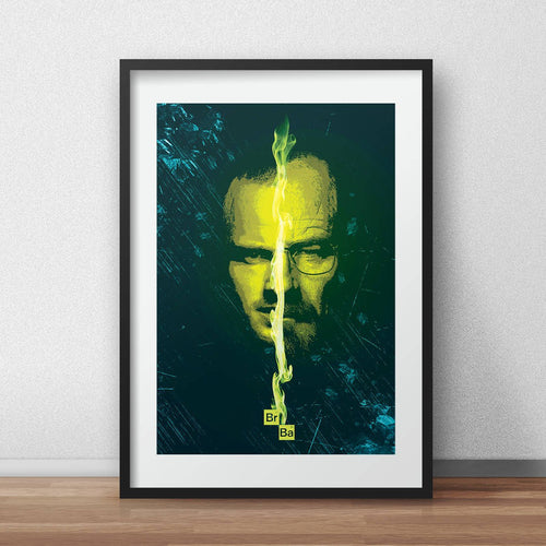 Breaking bad poster heisenberg print walter white and jesse pinkman portrait wall decor
