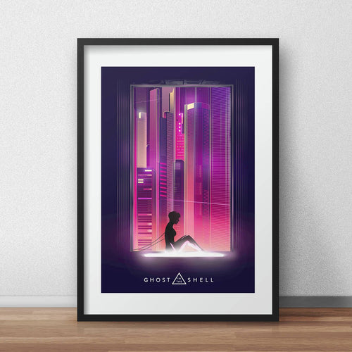 Ghost in the shell movie poster art scarlett johansson poster  seinen manga print