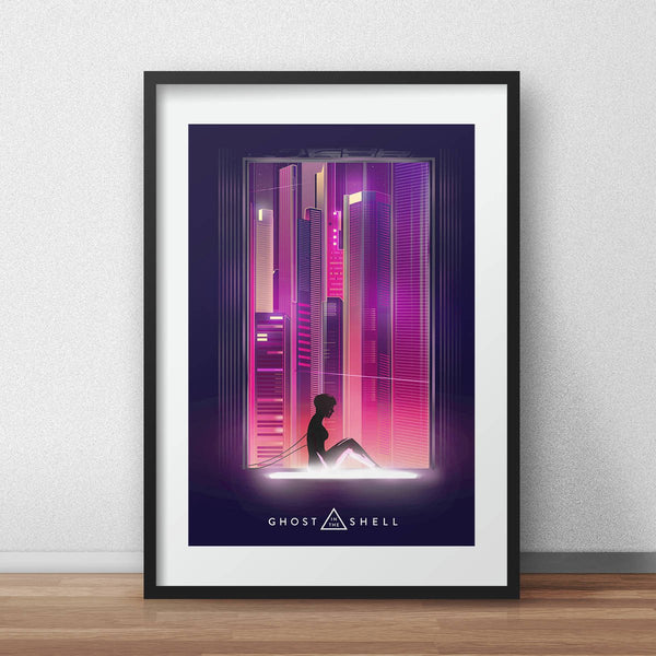 Ghost in the shell movie poster art scarlett johansson poster  seinen manga print - iamloudness