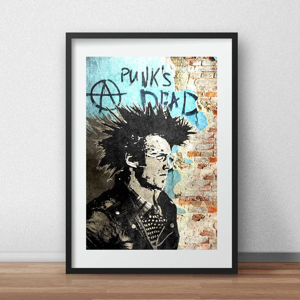 Punk's Dead Clint Eastwood grunge A3 print - iamloudness