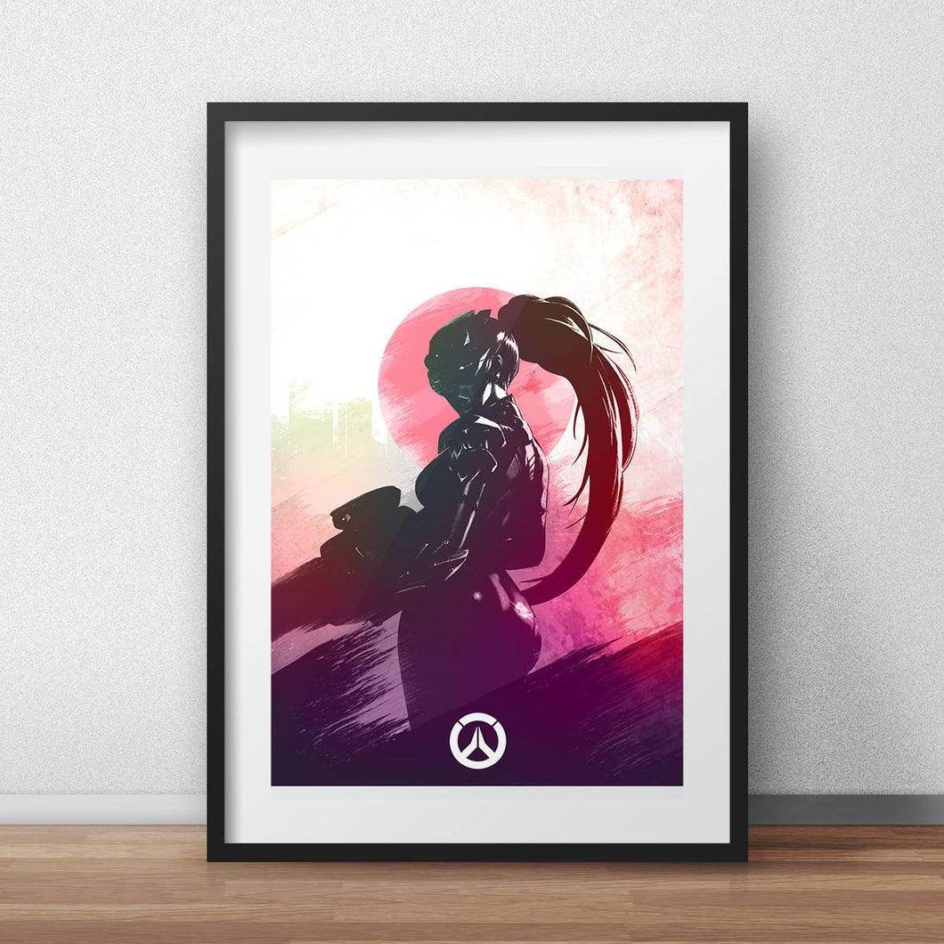 Overwatch poster Widowmaker art video game poster