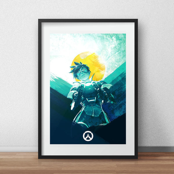 Video game Overwatch poster - Tracer, print video game poster - iamloudness