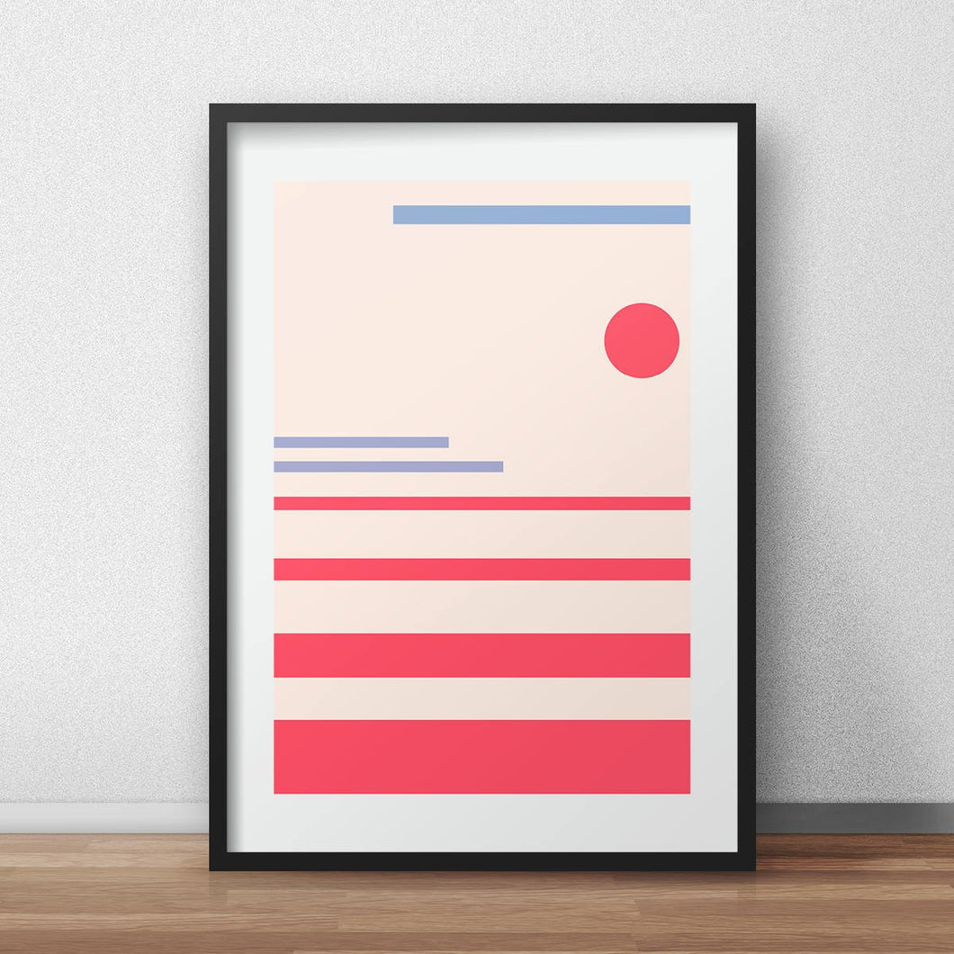MInimalistic nature abstract print nursery wall decor a3 poster
