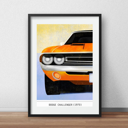 Dodge Challenger 1970 print muscle car poster