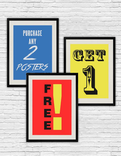 Discount* Pick any A3 Posters from shop for 45 FREE SHIPING
