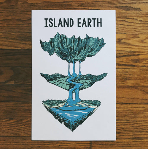 Island Earth Screen Printed Poster